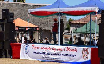 Appropriation du leitmotiv «Tagna Mengoke Tsy eken'i Menabe» lors de la Foire Renala 3