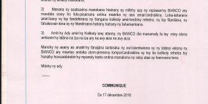 """Communiqué d'urgence: Dossier """"Mbola RAJAONAH"""""""